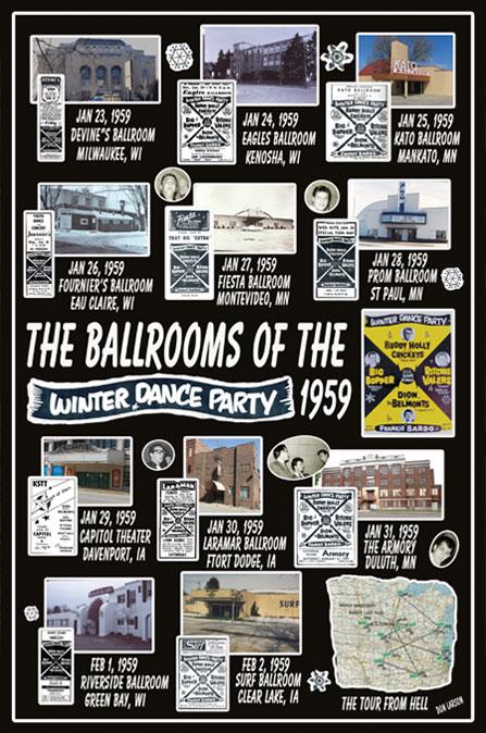 Buddy Holly Ballrooms Don Larson Art